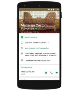 WhatsApp Business Page Now Official 2