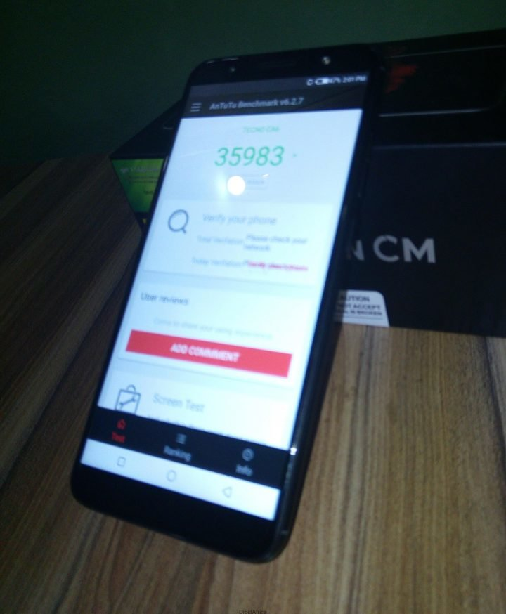Tecno Camon CM (CMore) Unboxing Review and Antutu Benchmark 12