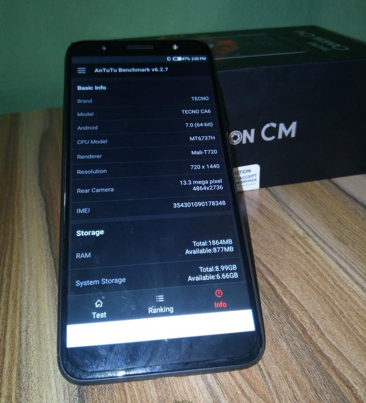 Tecno Camon CM (CMore) Unboxing Review and Antutu Benchmark 13