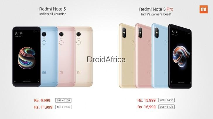 Xiaomi Redmi Note 5 Vs Redmi 5 Plus Vs Redmi Note 5 Pro