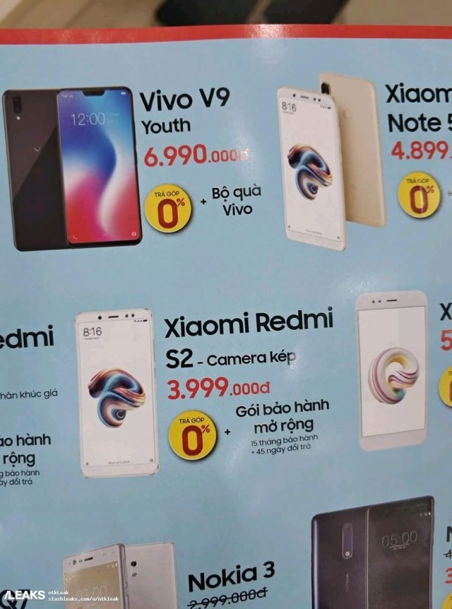 Xiaomi Affordable Redmi S2: Live Image and Detailed Specs 7