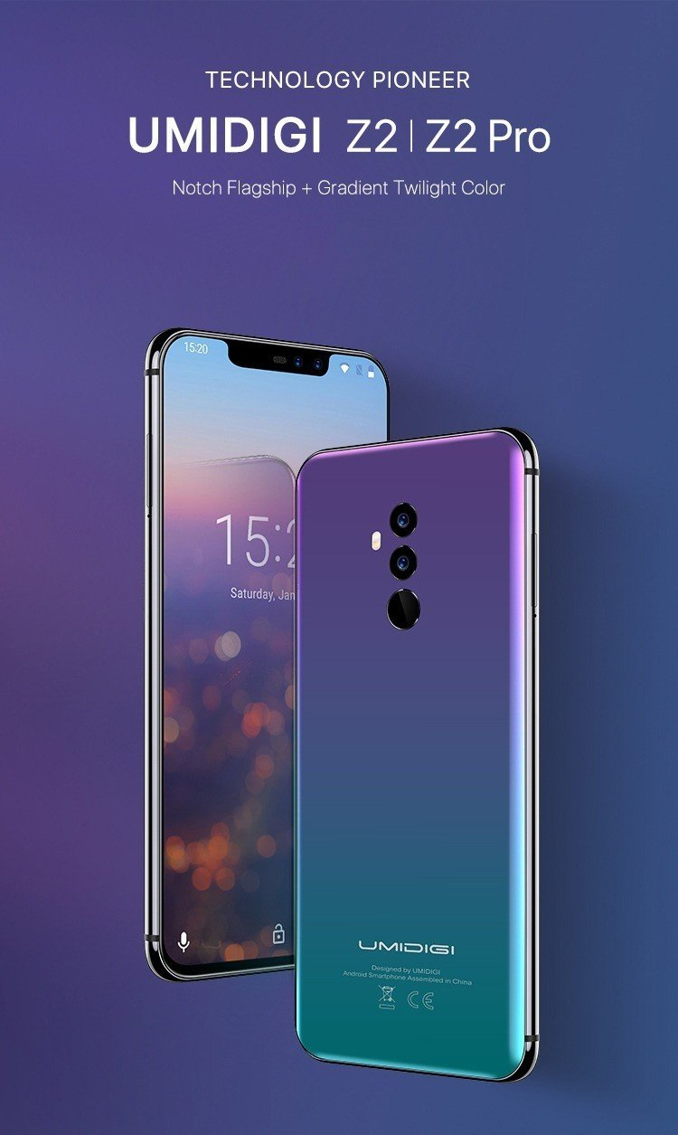 UMiDigi Z2 and Z2 Pro Goes Official with Mediatek Helio P60