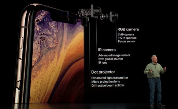Apple iPhone XS front camera details