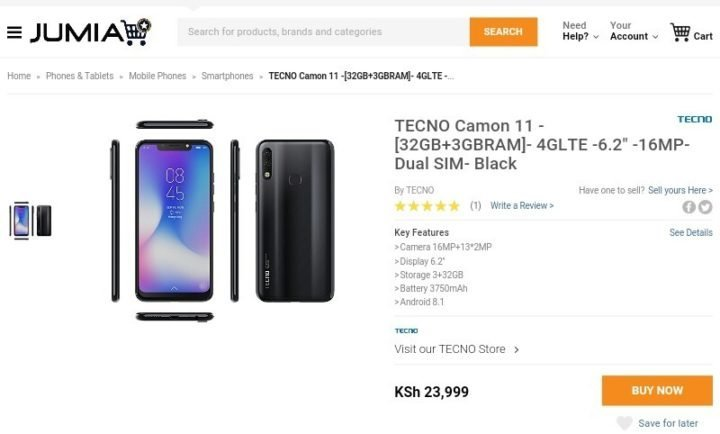 You Can Now Buy Tecno Camon 11 and Camon 11 Pro on Jumia
