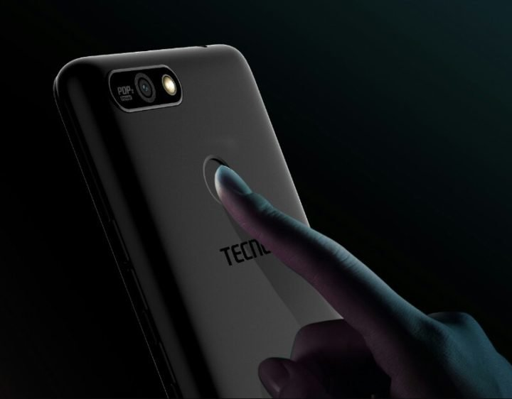 Tecno Pop 2 Power camera and Fingerprint scanner
