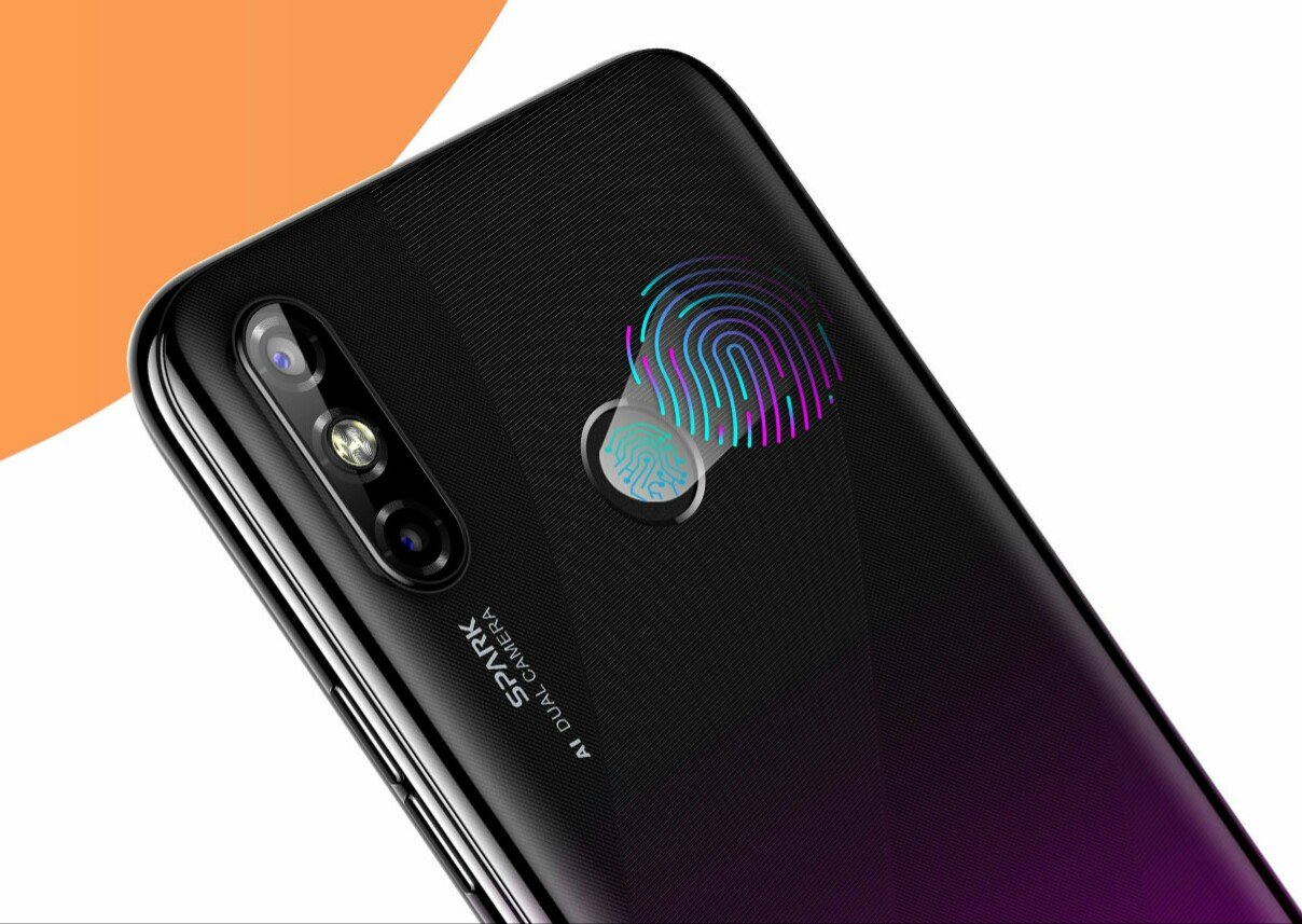 Tecno Spark 4 Air fingerprint scanner