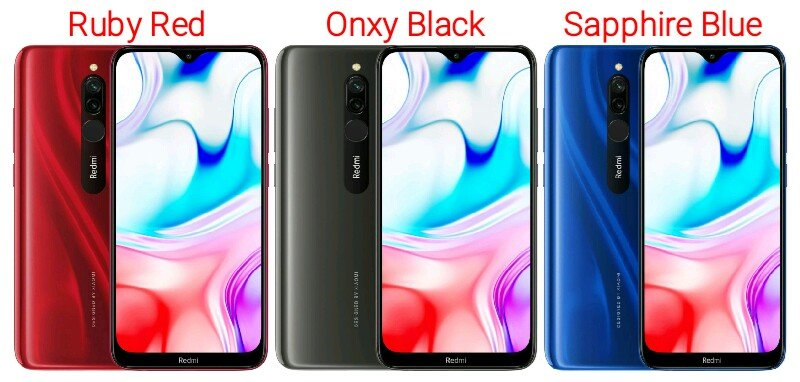 Redmi 8 different colours
