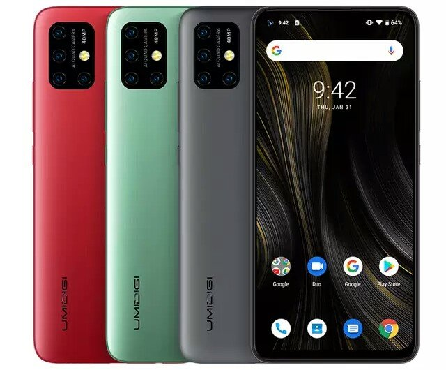 Different colours of UMiDIGI Power 3
