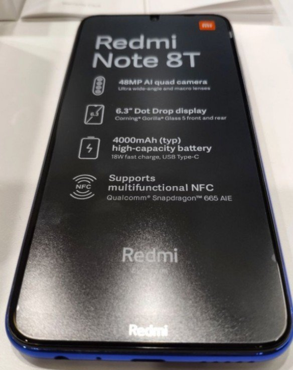 Xiaomi Redmi Note 8T live images leaked revealing it's key specs 1