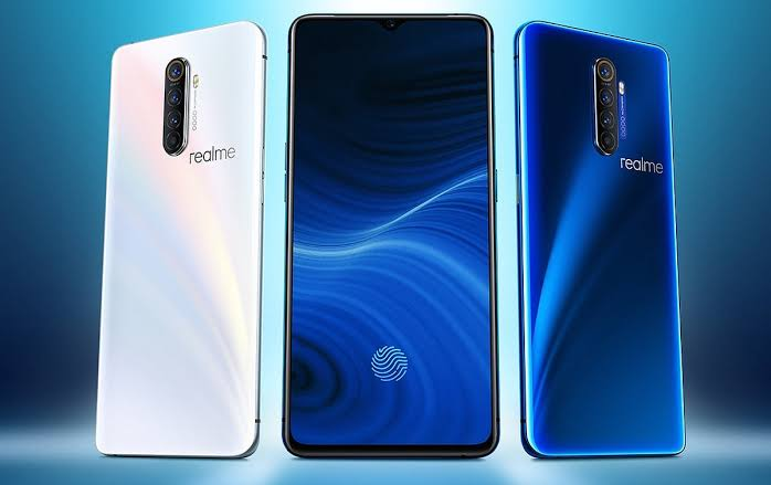 Realme X2 Pro in White and Blue colors
