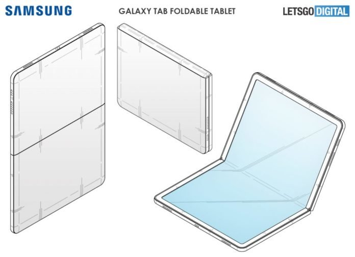 Samsung patents tablet fold