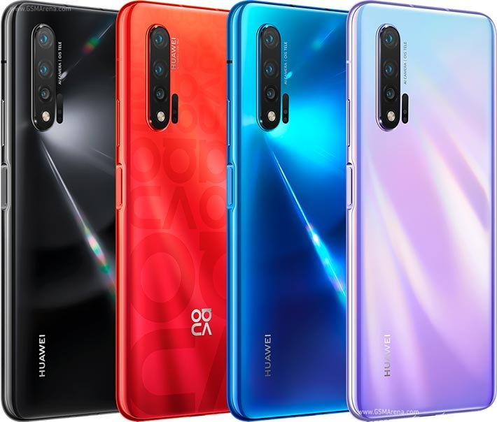 Huawei Nova 6 series colours