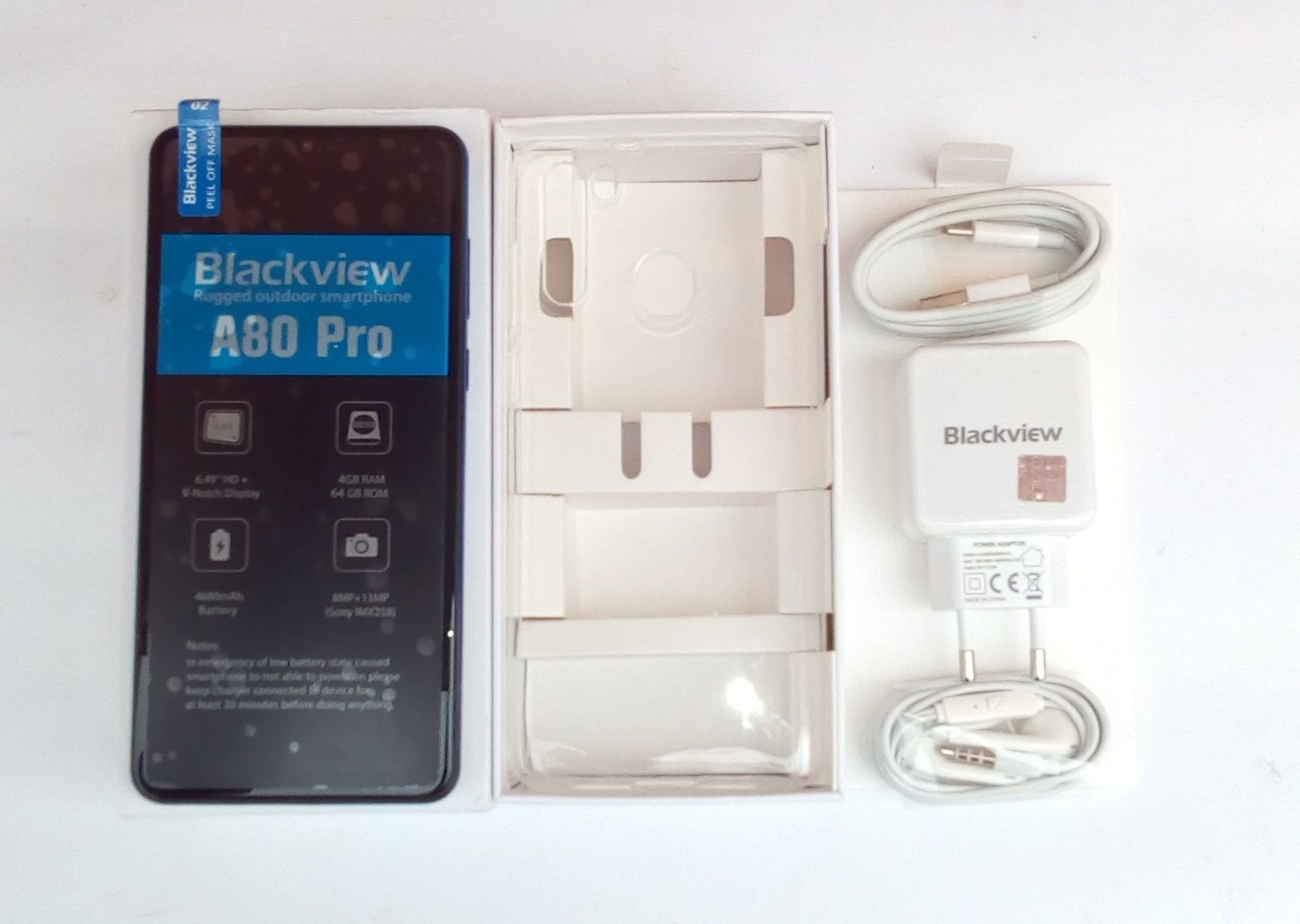Blackview A80 pro box content