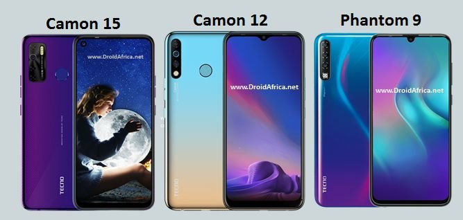 Tecno Camon 15 vs Camon 12 vs Phantom 9: Whats New?