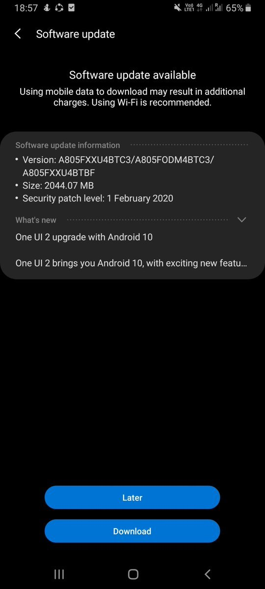 Samsung Galaxy A40 and the A80 now receiving Android 10 7