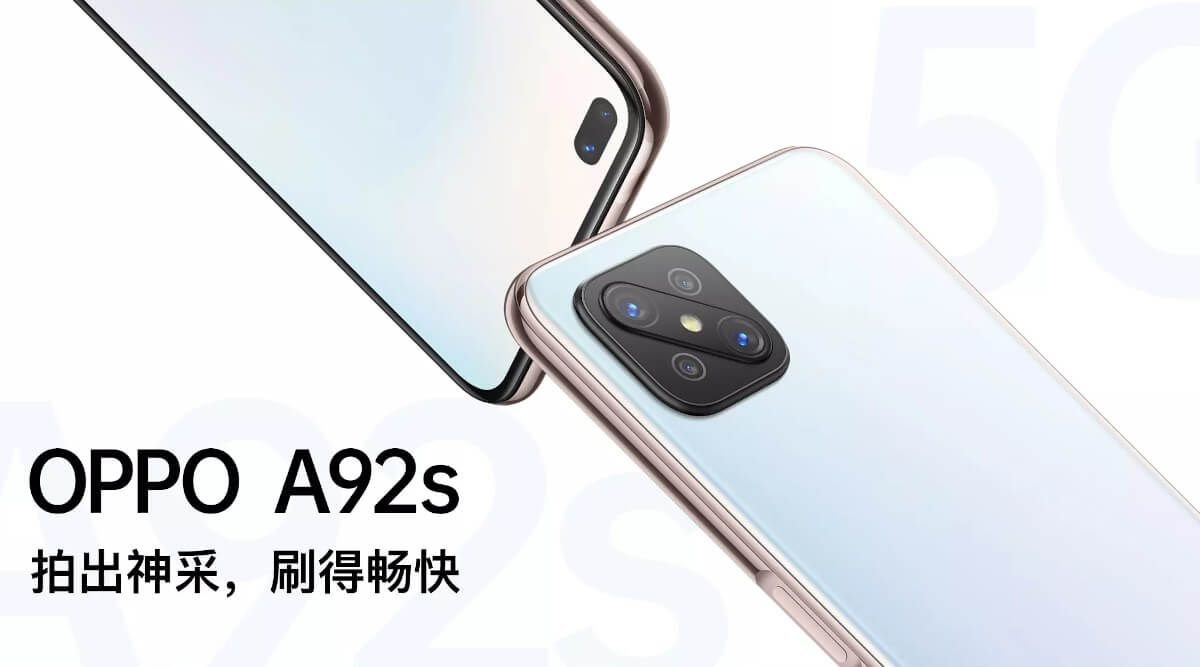 OPPO A92s is an affordable 5G smartphone priced @$309 4