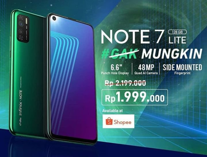 Infinix Note 7 lite price in Indonesia