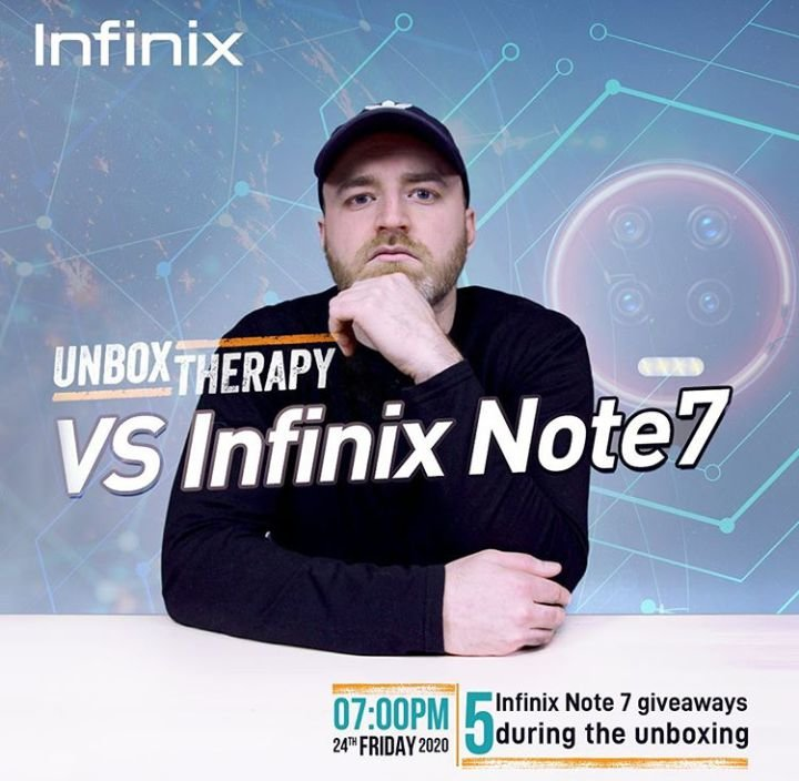 [UPDATED] Infinix Note 7 to be reviewed by Unbox Therapy, tomorrow 1