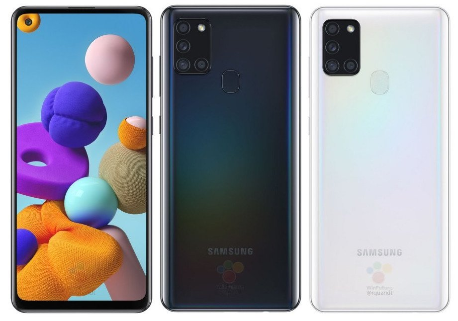 Samsung Galaxy A21s renders are here; Exynos 850 in tour 3