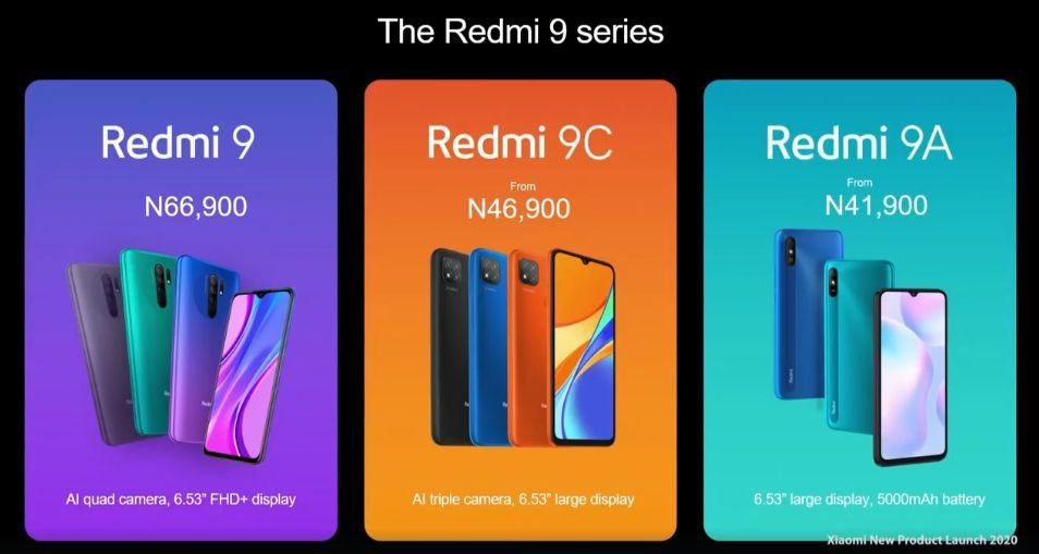redmi 9 pricing in Nigeria