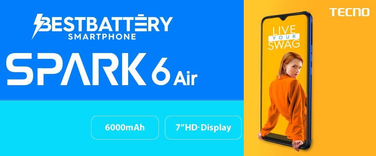 """Tecno Spark 6 Air goes official with 7"""" screen and 6000mAh battery 3"""