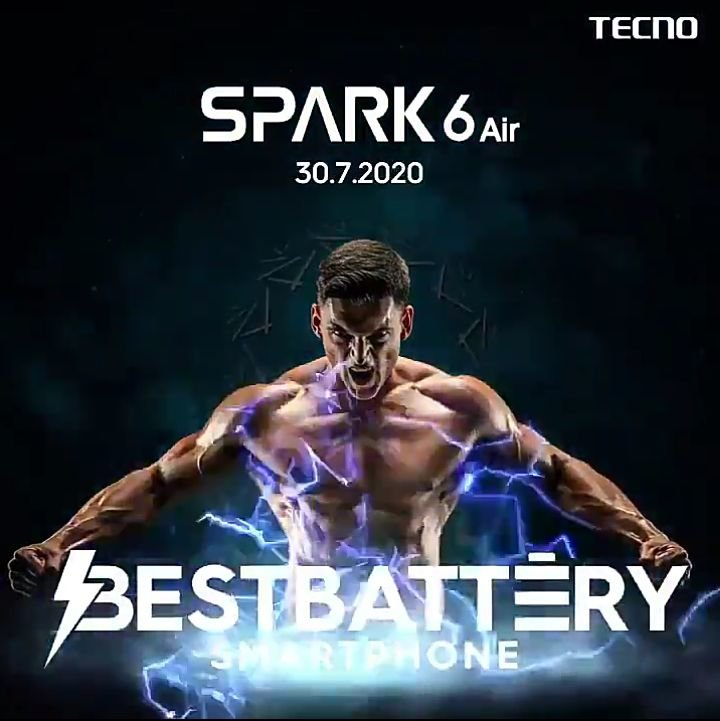 Tecno Spark 6 Air will be announced in India tomorrow 2