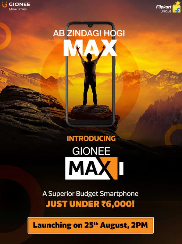 Battery focused Gionee Max to launch in India next week 1