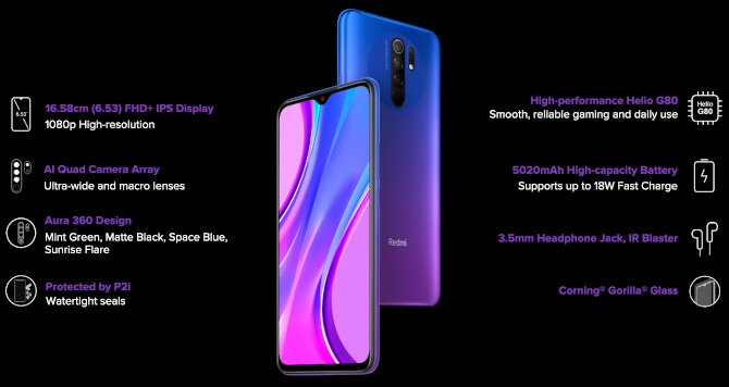 Redmi 9 Prime is a rebadged vanilla 9 with P2i coating 3