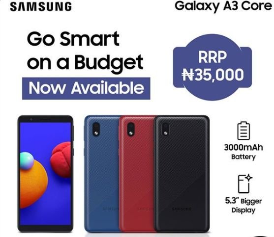 galaxy a3 core price in Nigeria