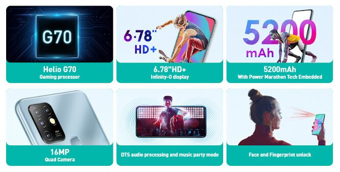 Infinix Hot 10 bares it all on official site with Helio G70 3