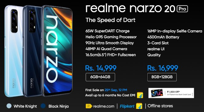 realme Narzo 20-series launched specs and price