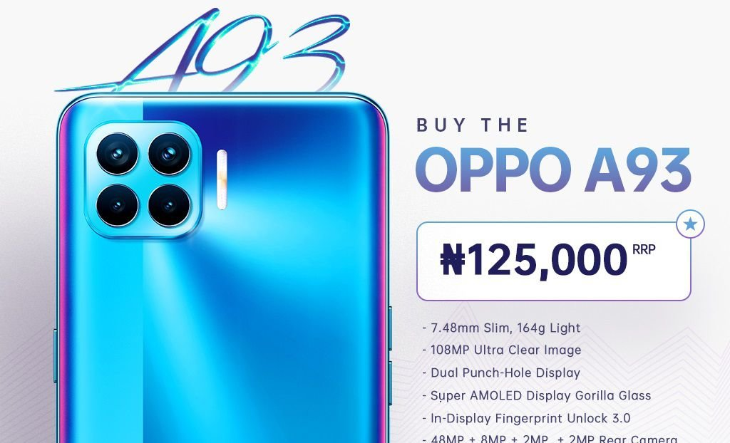 OPPO A93 now official in Nigeria, priced at 125,000 4