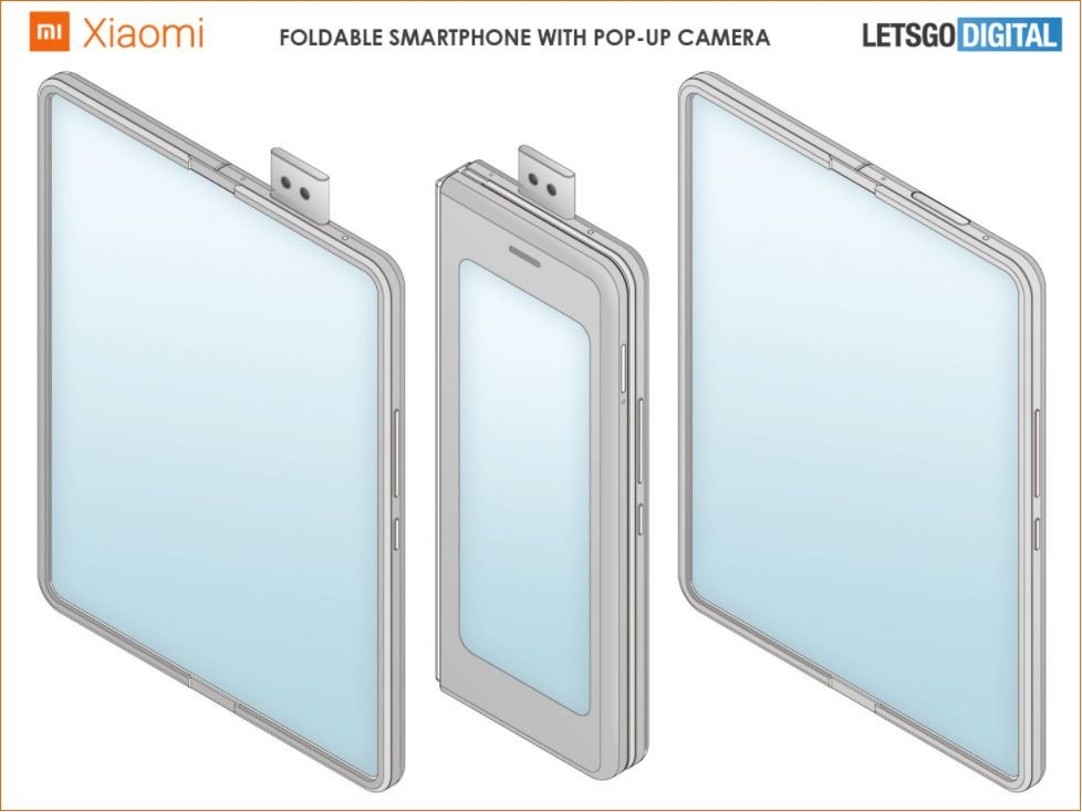 Patent document point to a new Xiaomi foldable phone with pop-up selfie 2