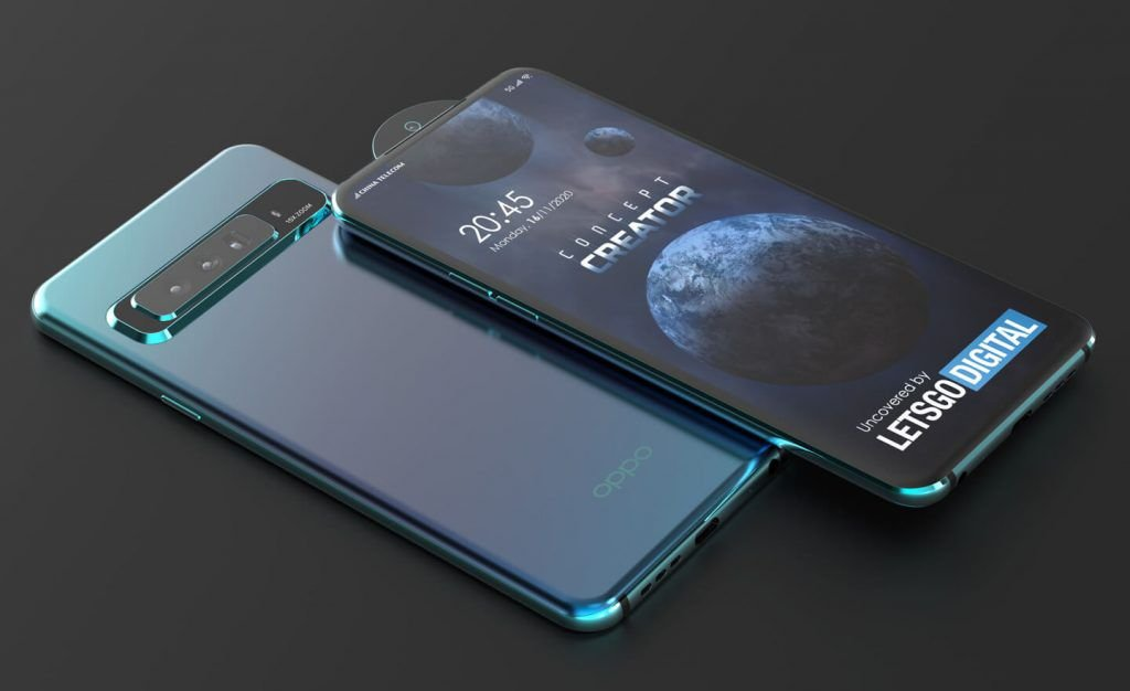 OPPO patent a new smartphone with a rounded pop-up selfie 1