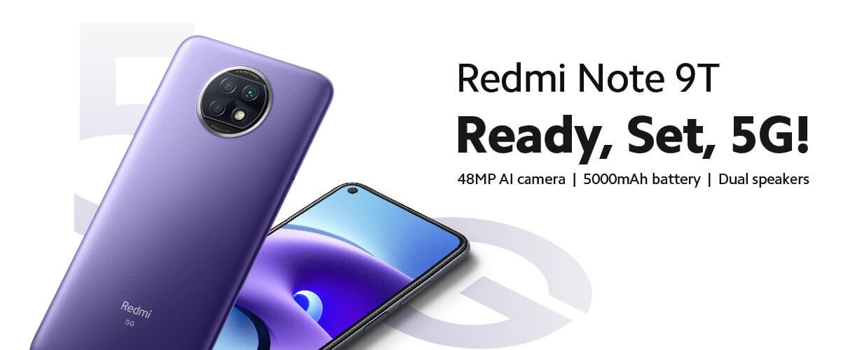 Redmi Note 9T 5G unveiled globally with Dimensity 800U 2