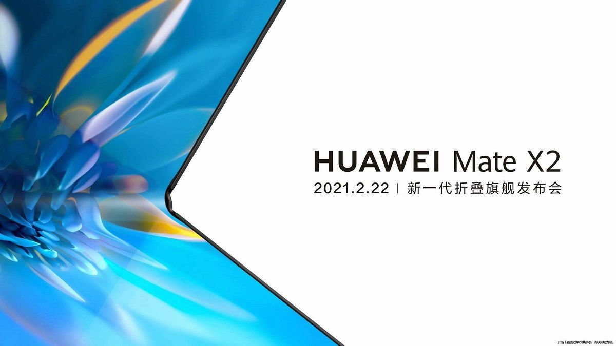 Huawei Mate X2 folding smartphone set for February 22