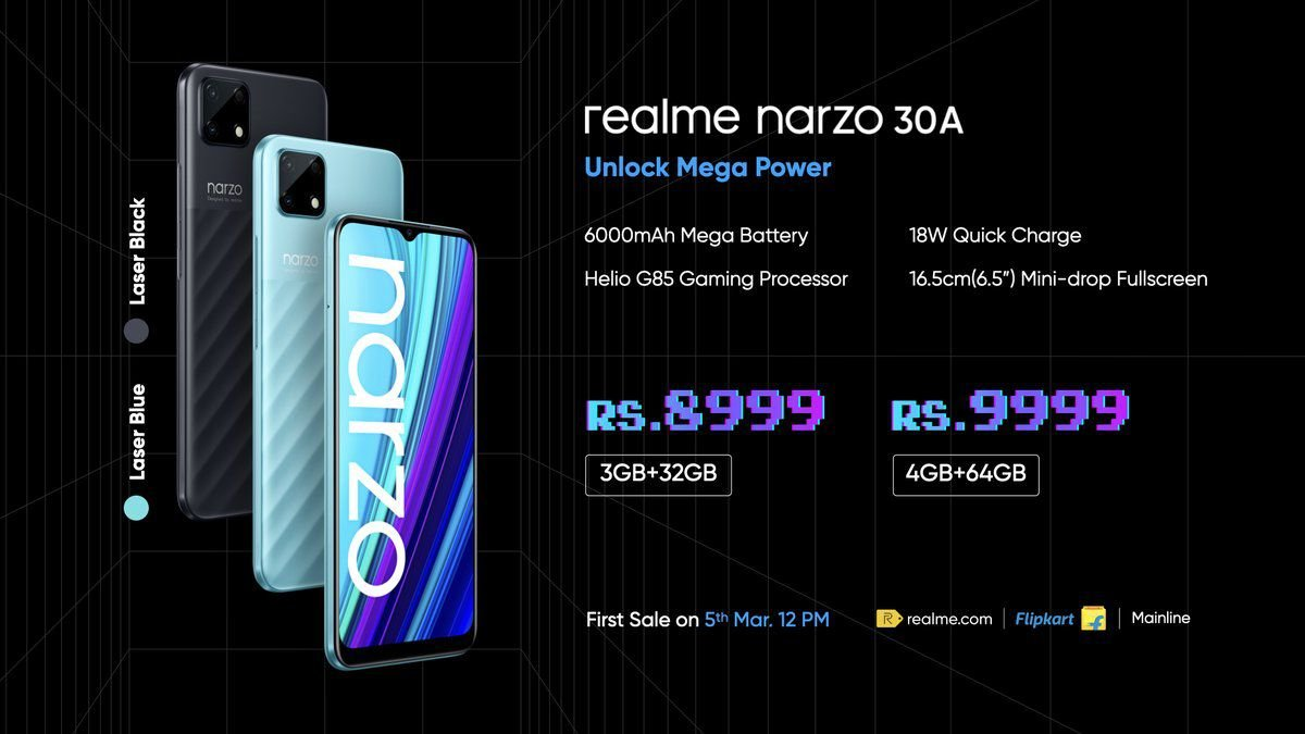 Realme Narzo 30A price and review