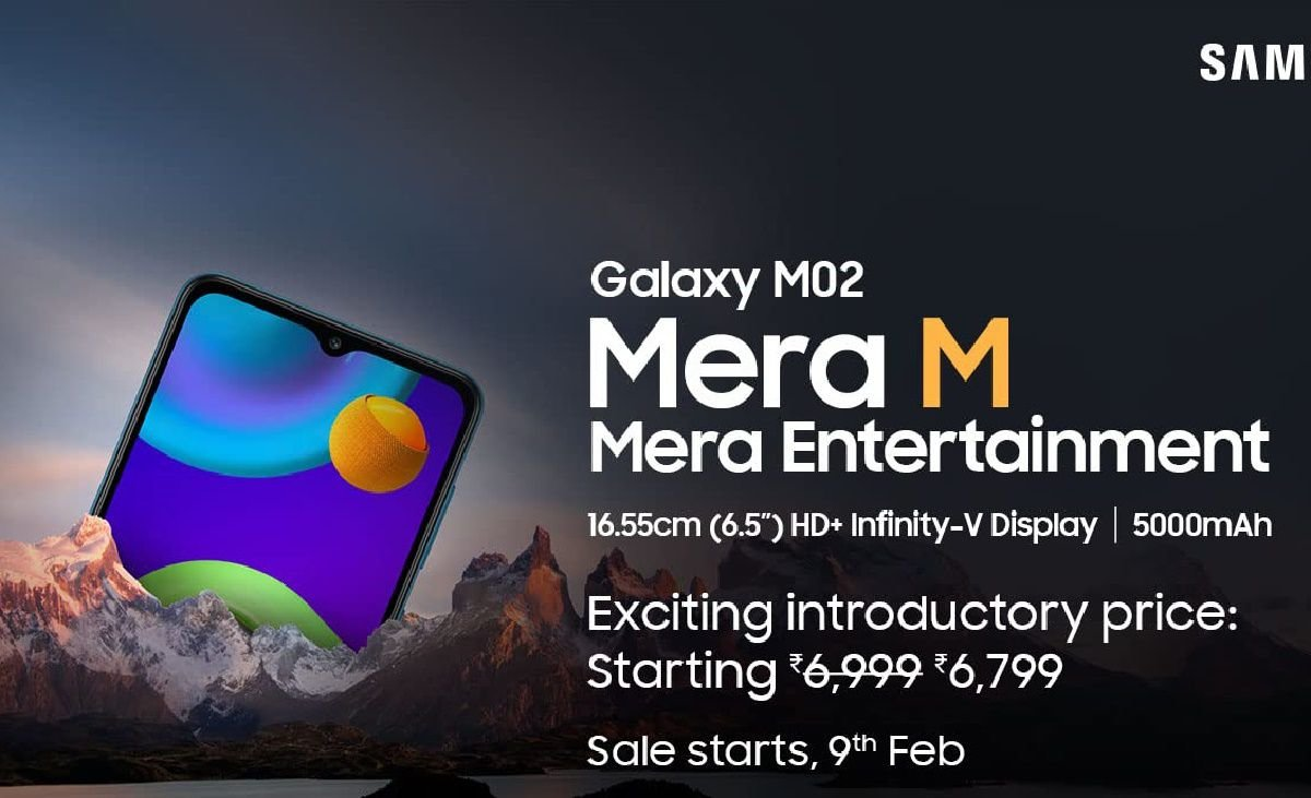 Samsung Galaxy M02 announced in India