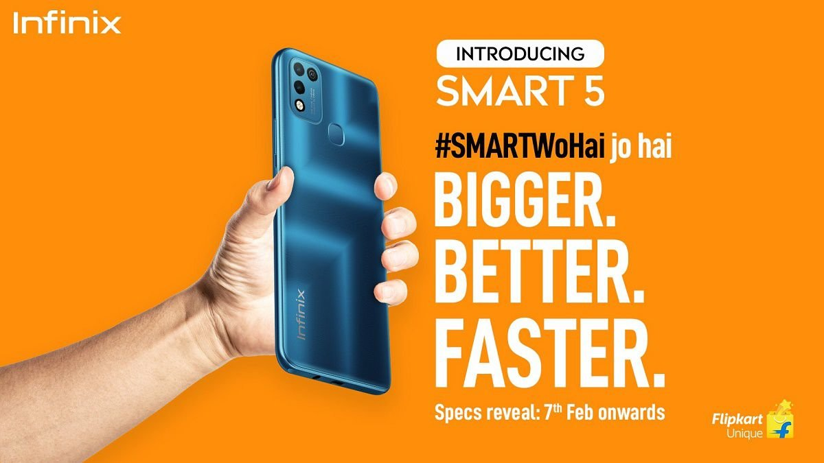 smart 5 infinix is launching in India soon