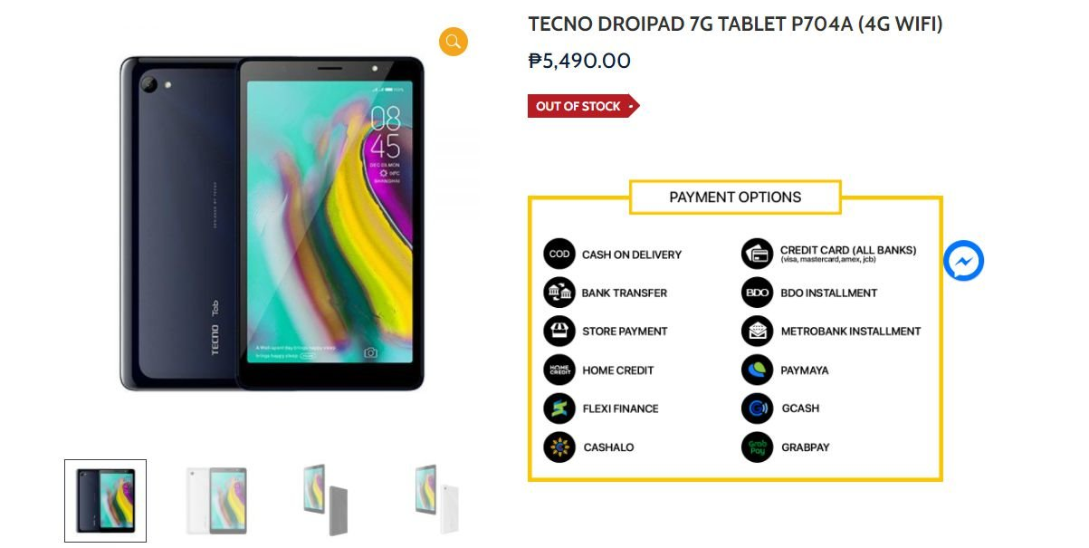 Tab P704A is the latest tecno tablet