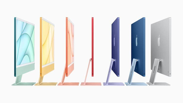 Apple unveils a new iMac with an M1 processor and seven colors
