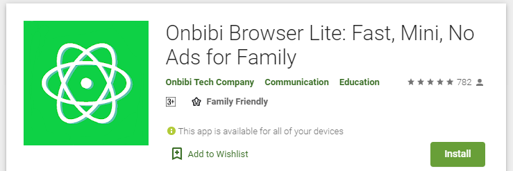 Key features of Onbibi browser