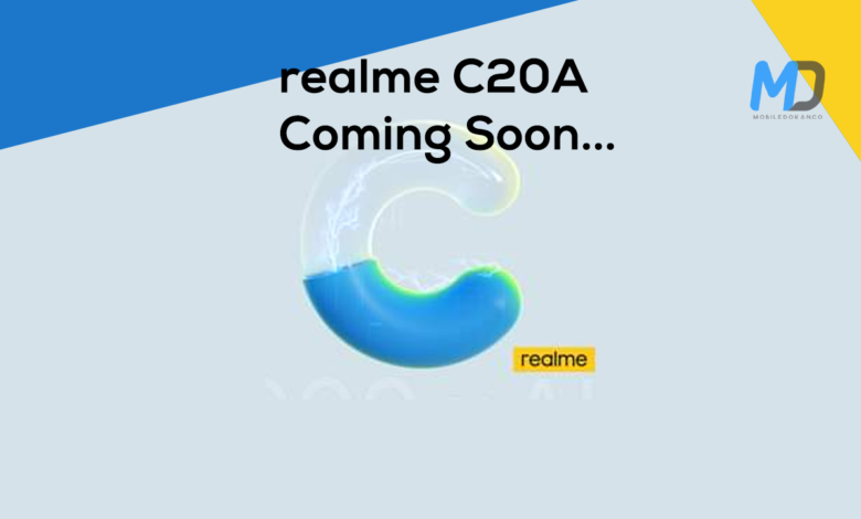Realme C20A to launch soon with a 6.5-inch display and 5,000mAh battery