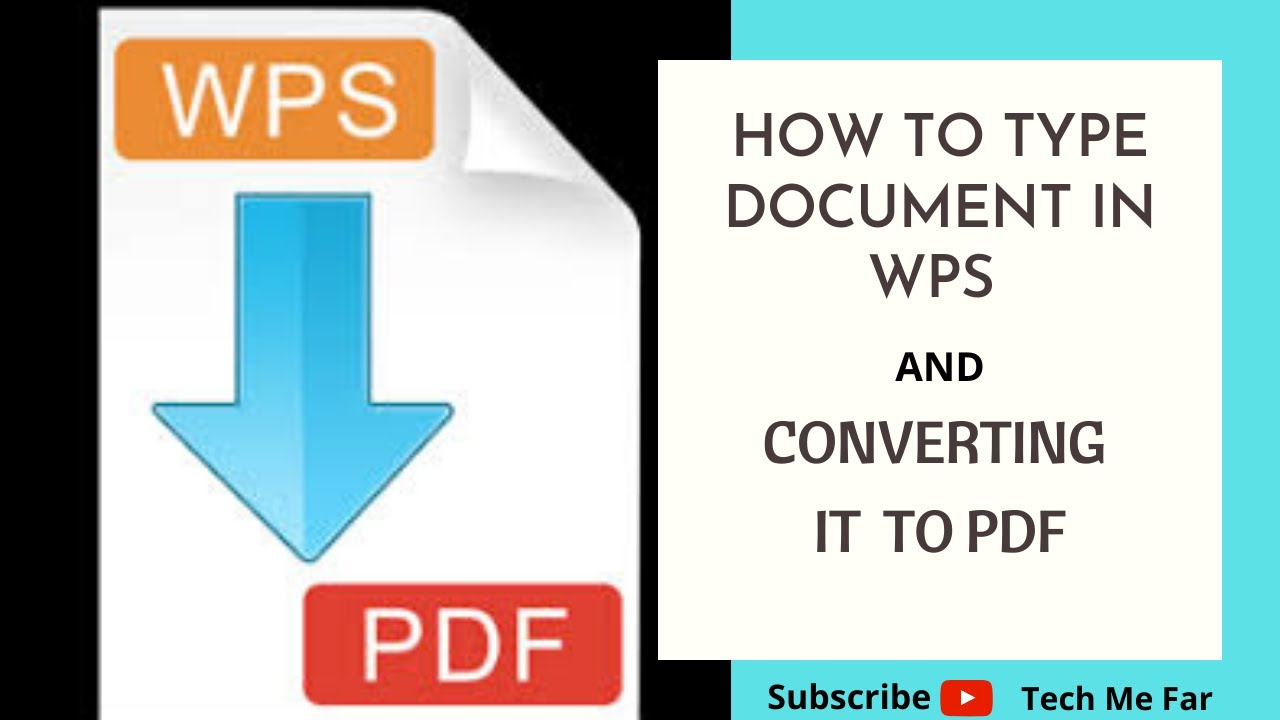 Converting WPS File to PDF online; works on both PC and Smartphones