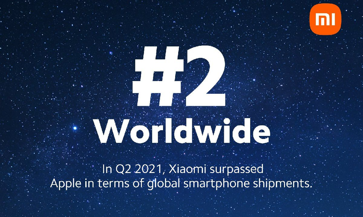 Xiaomi now world number 2 phone maker