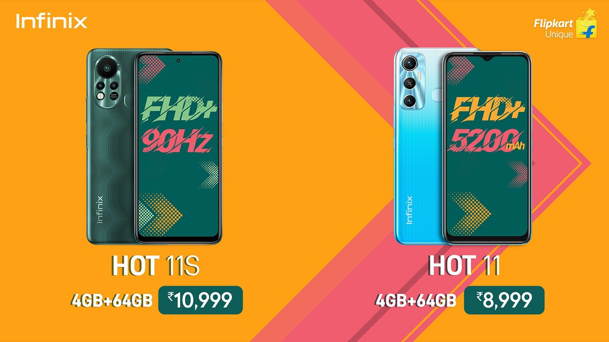 The price of Hot 11 and Hot 11s in India